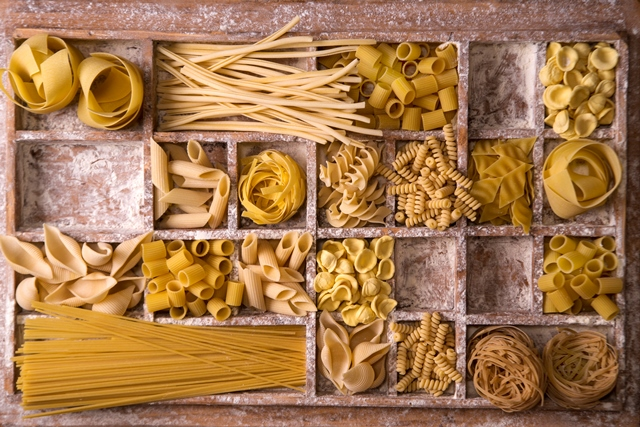 Garden Grove, The Different kinds of pasta in Italian Food